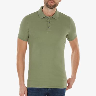 Marbella Slim Fit Poloshirt, Meeresgrün
