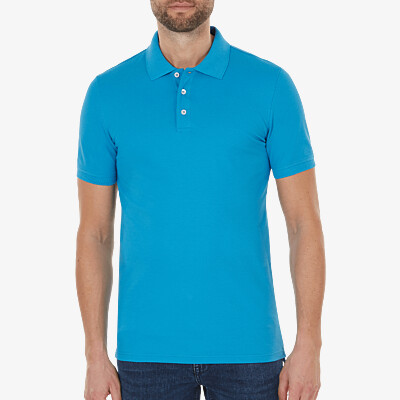 Marbella Slim Fit Poloshirt, Swedish blue