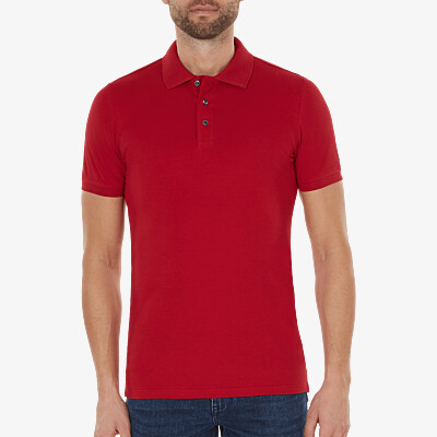 Marbella Slim Fit Poloshirt, Red