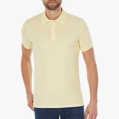 Marbella Slim Fit Poloshirt, Hellgelb