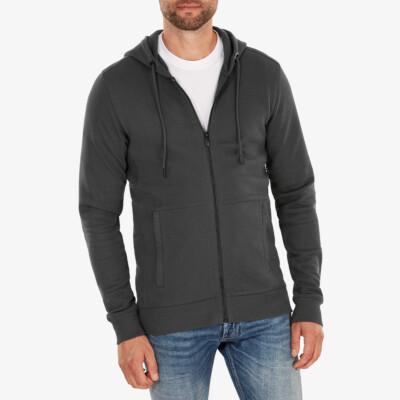Denver Full Zip hoodie, Dunkelgrau