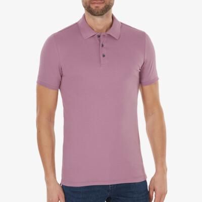Marbella Slim Fit Poloshirt, Violett