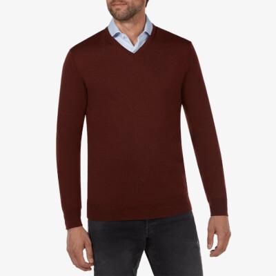 Kingston v-neck pullover, Burgund