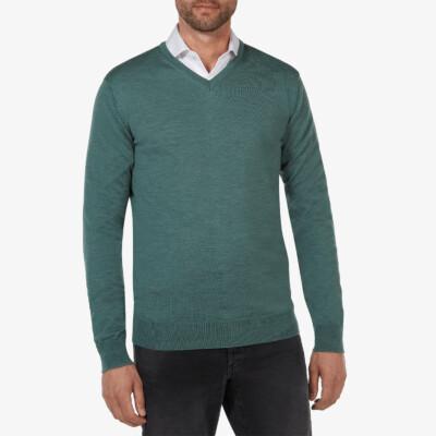 Kingston v-neck pullover, Grün