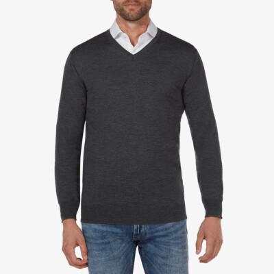 Kingston v-neck pullover, Anthrazit