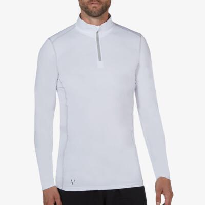 Serfaus Sportshirt mit Reißverschluss, Weiß