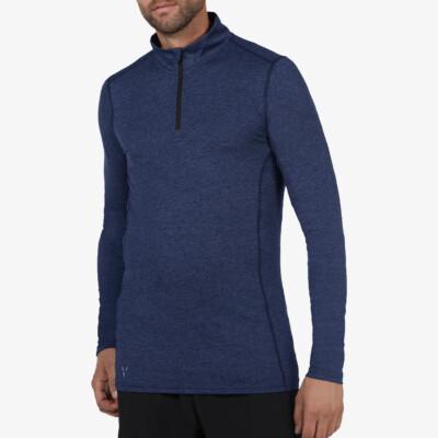 Serfaus Sportshirt mit Reißverschluss, Estate blue Melange