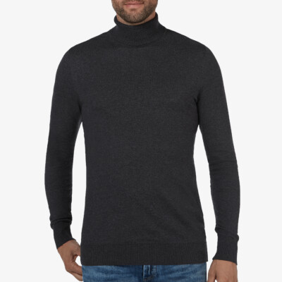 Bari Light turtleneck, Antracite melange