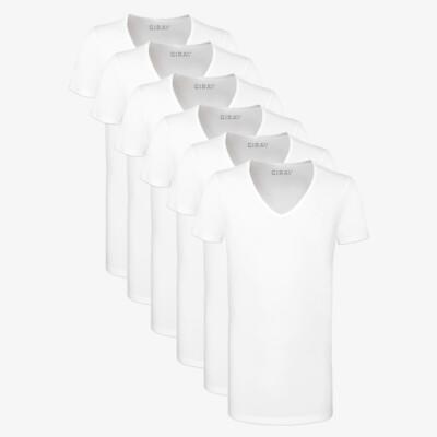 Hong Kong SixPack T-Shirts, 6er-Pack Weiß (3x 2er-Pack)