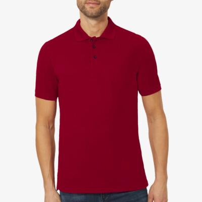 Langes Poloshirt Madrid, Bordeaux Red
