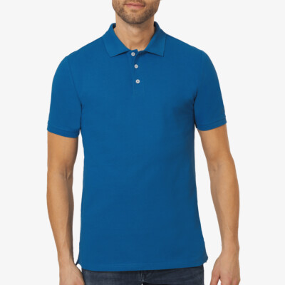 Langes Poloshirt Madrid, Snorkel Blue