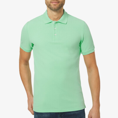 Marbella Slim Fit Poloshirt, Ice Green