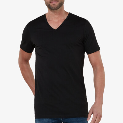 lang-tshirt-v-hals-new-york-zwart-2pack