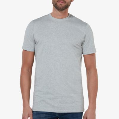 Sydney T-shirt, 2er-Pack Grau Meliert