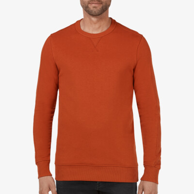 Cambridge Sweatshirt, Rostfarben