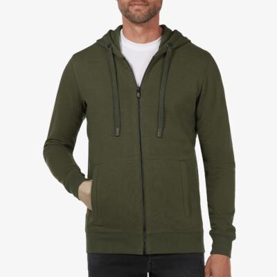 Denver Full Zip Hoodie, Armygrün